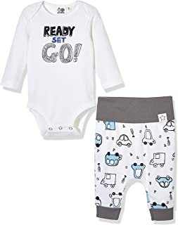 Silly Apples Baby Toddler Boys or Girls Fall Outfit 2-Piece Bodysuit Onesies and Pant Outfit Set