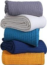بطانية رمي - تيل ثرو كينج سايز - بطانية رمي بوهو - بطانية صيف ناعمة لغطاء السرير / أريكة / أريكة