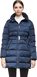 Orolay Women Warm Cotton-Padded Jacket with Waist Belt Coat