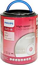 Philips 16X DVD-R Media 100 Pack in Spindle with Handle (DM4S6H00F/17)