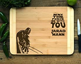 Personalized Cutting Board Engraved Cutting Board HDS Star Wars Darth Vader
