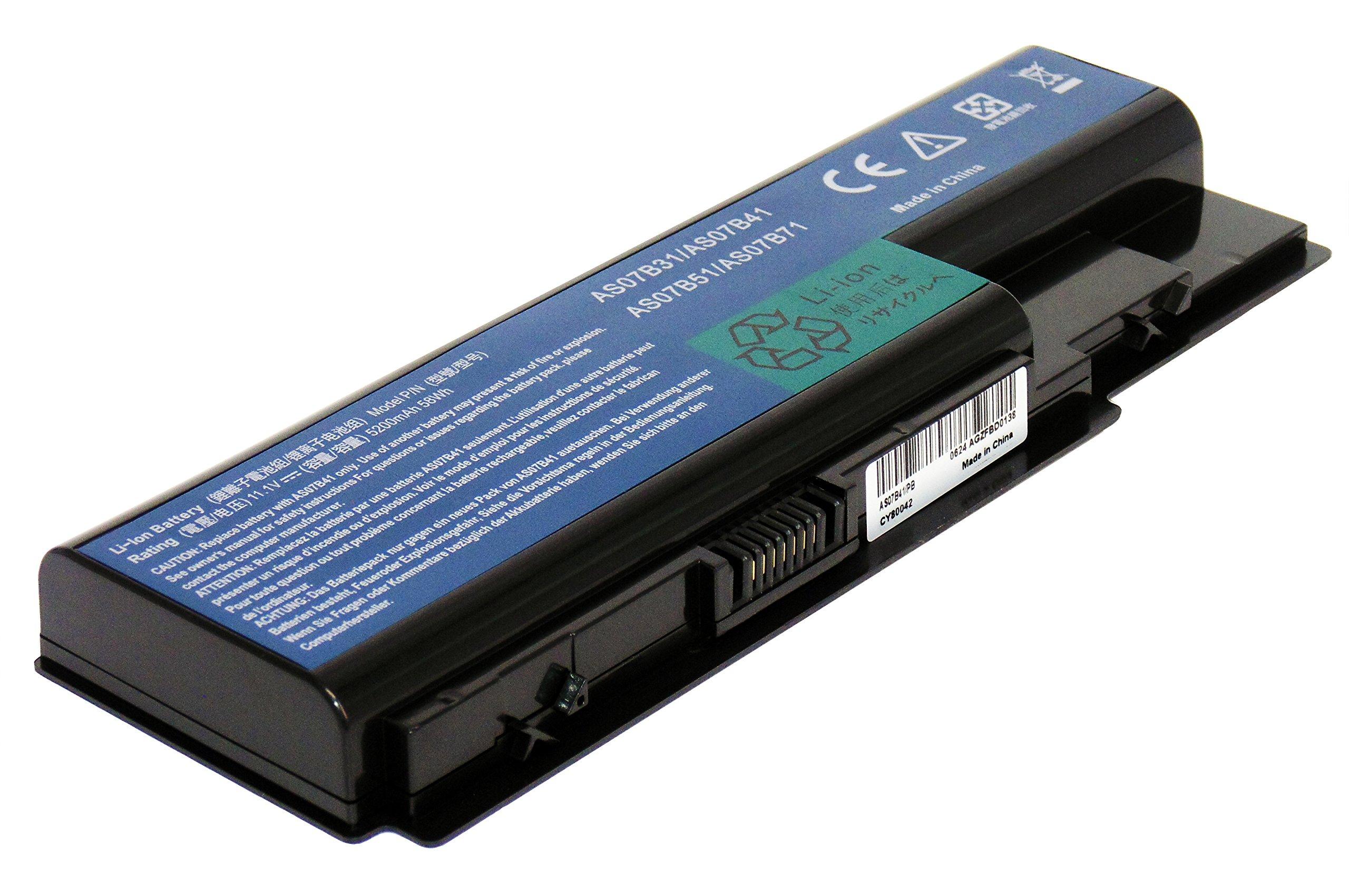 5200mAh 11.1V ARyee 5920 Batterie Compatible avec Acer Aspire Aspire 5920 5920G 5520 5530 6530 AS07B31 AS07B32 AS07B41 AS07B42 AS07B51 AS07B52 AS07B61 AS07B71 AS07B71 AS07B72