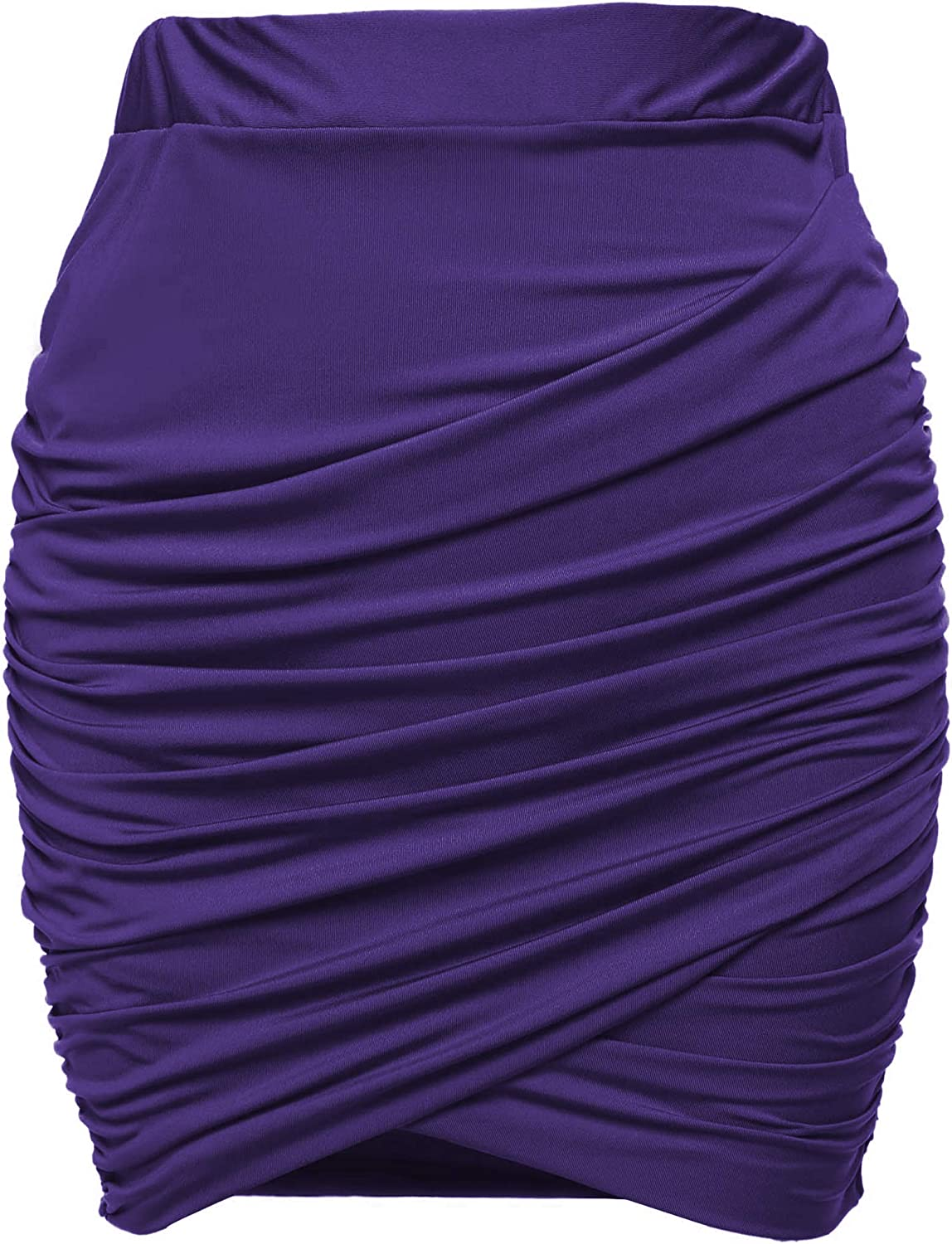Zeagoo Women Wrap Runched Large discharge sale Stretch Mini Pleated discount Draped Pe Bodycon