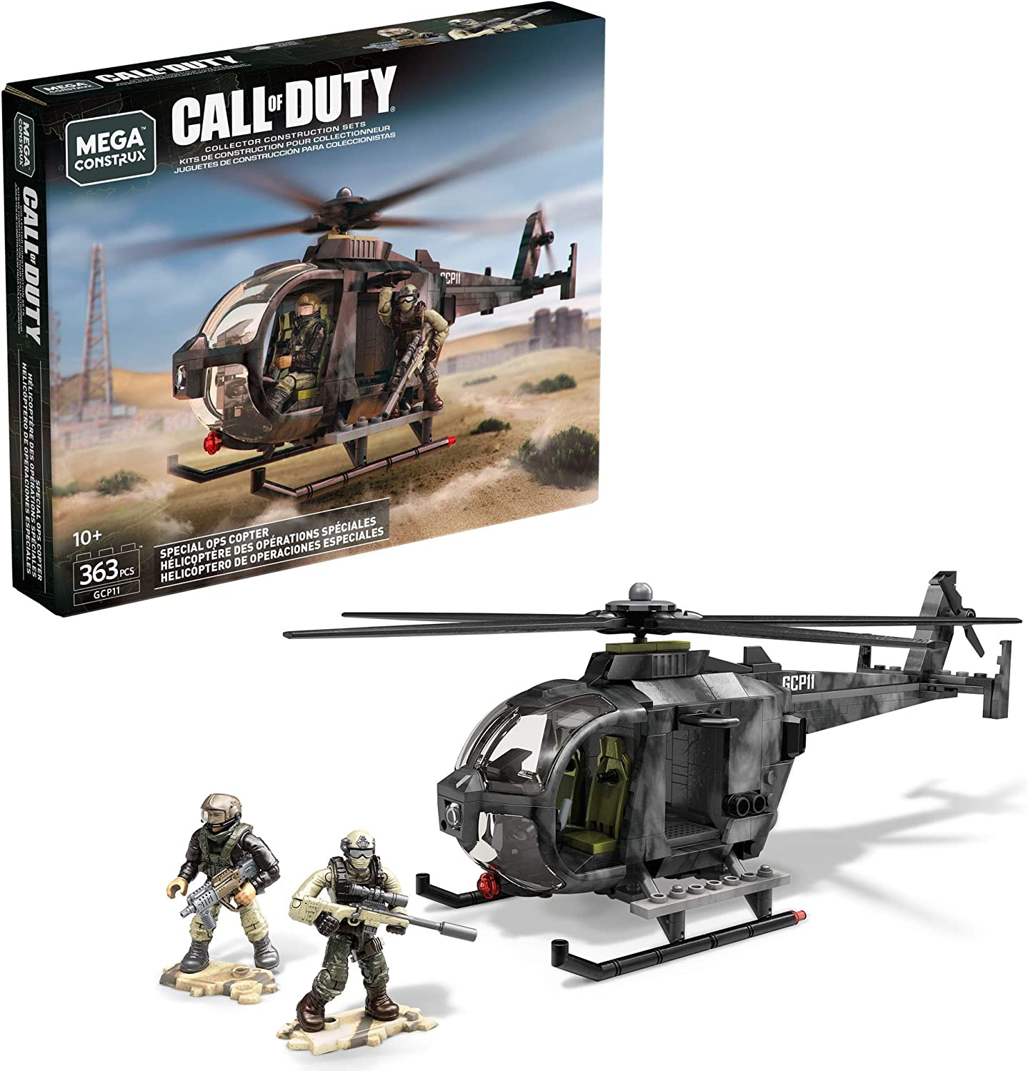 24. Mega Construx Call of Duty Special Ops Copter Construction Set with character figures