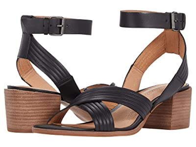 Madewell Olson Multi Strap Heeled Ankle Strap Sandal (True Black) Women
