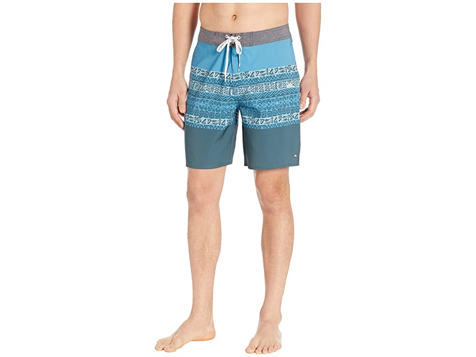 787b10db0d Quiksilver Waterman 19 Liberty Triblock Boardshorts (Cerulean) Men's  Swimwear