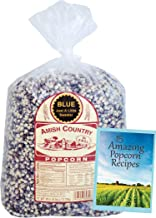 Amish Country Popcorn | 6 lb Bag | Blue Popcorn Kernels | Old Fashioned with Recipe Guide (Blue - 6 lb Bag)