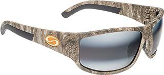Strike King S11 Caddo Polarized Sunglasses, UVA/UVB Protection, Mossy Oak Frame, Dark Amber Brown/Amber Lens
