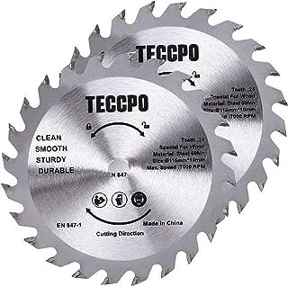 TCT Cortar Madera -TACB25A TECCPO 2x Hoja de Sierra Circular 185mmx20mm 24 Dientes