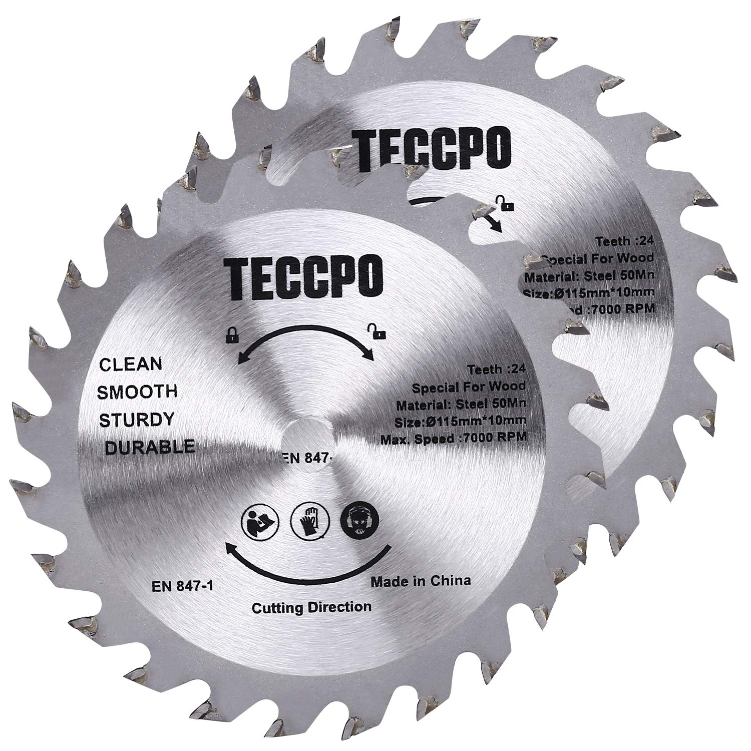 """Professional Circular Saw TECCPO 10Amp Lightweight 7-1//4"""" 5800 RPM Saw with Scal"""