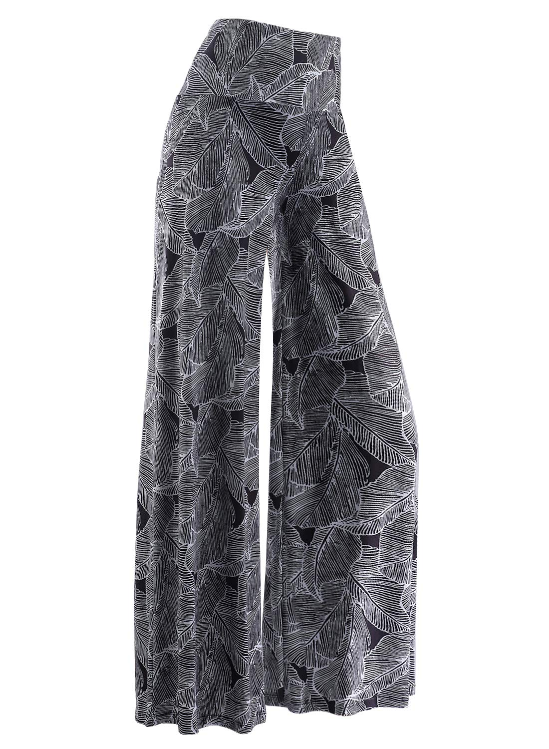 Plus Size Clothing - Women's Stretchy Wide Leg Palazzo Lounge Pants