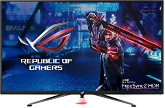 """Asus ROG Strix XG438Q 43"""" Large Gaming Monitor with 4K 120Hz FreeSync 2 HDR Displayhdr 600 90% DCI-P3 Aura Sync 10W Speaker Non-Glare Eye Care with HDMI 2.0 DP 1.4 Remote Control"""