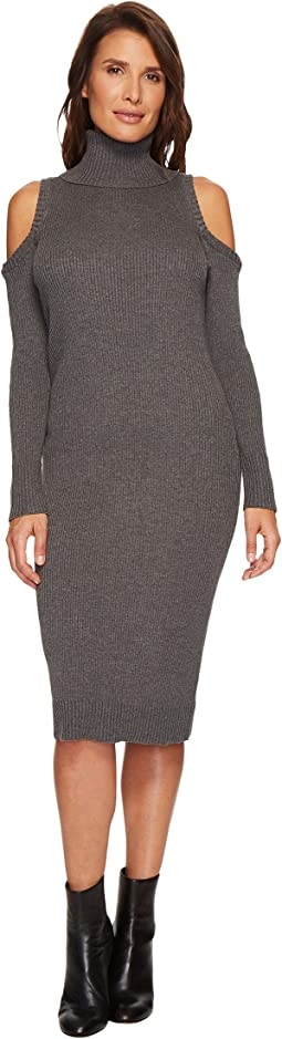Ivanka Trump - Knit Cold Shoulder Cowl Neck Dress