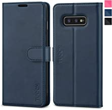 Galaxy S10e Case, TUCCH S10 Edge Wallet Case, PU Leather Phone Case [3 Card Slot] [Kickstand] Carry-All Case [RFID Blocking] [Flip Cover] Compatible with Galaxy S10e (2019 5.8 inch), Blue