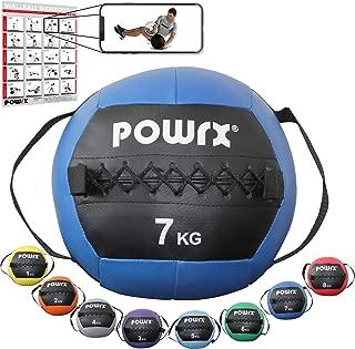 POWRX Wall Ball con Asas Laterales 1-8 kg - Ideal para