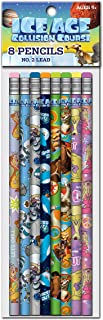Ice Age Collision Course Number 2 Lead Pencils, 7.5 x 0.5 Inches, Twelve 8 Packs, Design will Vary (08792)