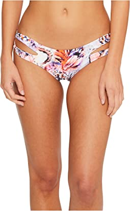 Luli Fama - Cienfuegos Reversible Zig Zag Open Side Moderate Bikini Bottom