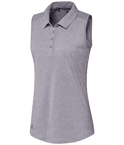 adidas Golf Ultimate365 Sleeveless Polo (Glory Grey Melange) Women