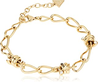 Guess Womens Stainless Steel Fashion Bracelet - UBB29022-L, Color Gold, Size L