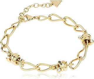 Guess Womens Stainless Steel Fashion Bracelet - UBB29022-L, Color Gold, Size L