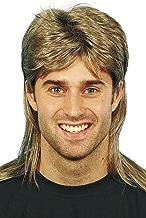 Smiffys Perruque nuque longue, brune, avec balayage blond
