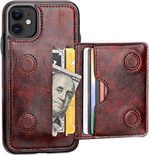 KIHUWEY iPhone 11 Wallet Case Credit Card Holder, Premium Leather Kickstand Durable Shockproof Protective Cover iPhone 11 ...