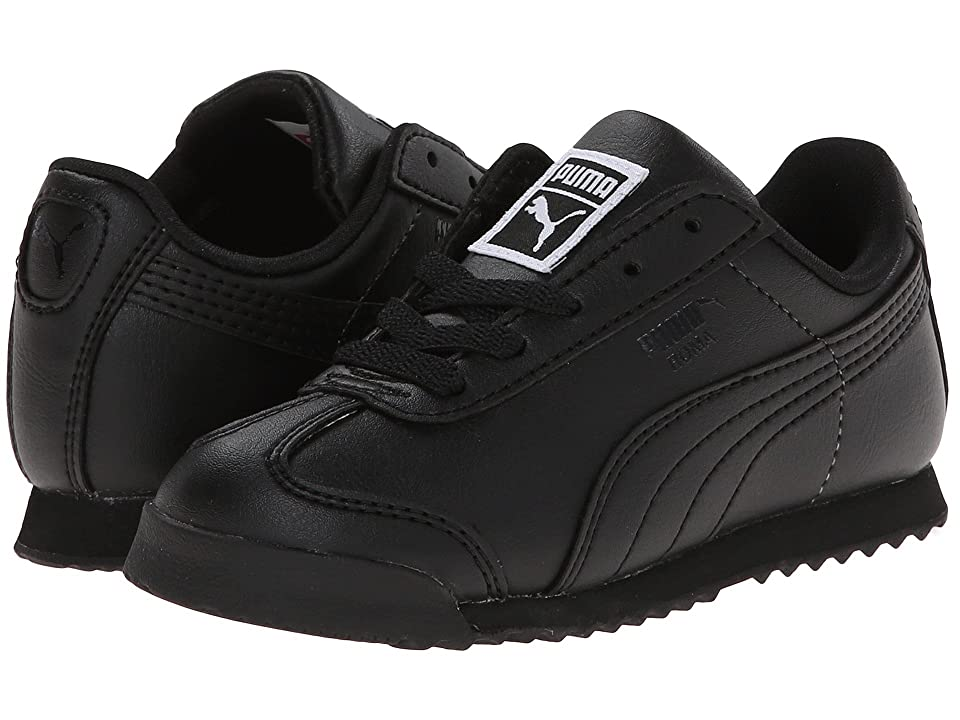 Puma Kids Roma Basic Kids (Toddler/Little Kid/Big Kid) (Black/Black) Boys Shoes
