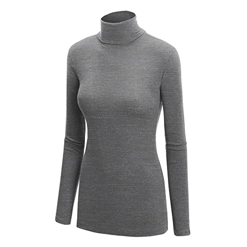 PERFURM Blouse Womens Short Sweater Solid Color Long Sleeve Knitted Dress Roll Neck Jumper Winter Simple Tops