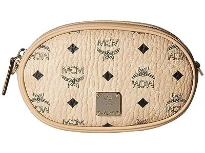 MCM Essential Visetos Original Belt Bag Small (Beige) Handbags