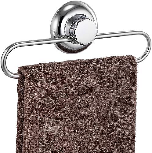 MaxHold Sistema de vacío - Toalleros de aro - Acero Inoxidable - Almacenamiento de la Cocina&baño