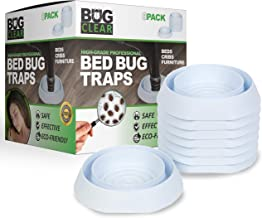 Bed Bug Traps Detectors Traps 8-Pack (White) - High Grade Professional   No Talcum or Chemicals   Beds Cribs Furniture