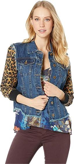Combo Leopard Jacket