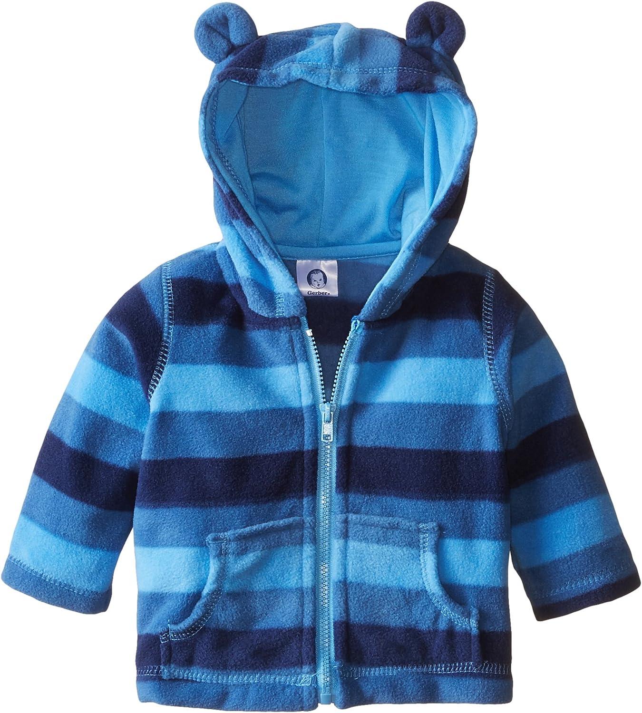 Gerber baby-boys Hooded Micro Fleece Jacket