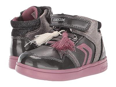 Geox Kids Djrock 30 (Toddler) (Black Charcoal 2) Girls Shoes