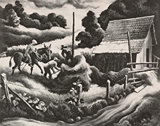 Thomas Hart Benton Giclee Print On Canvas-Famous Paintings Fine Art Poster-Reproduction Wall Decor(Haystack) #XFB