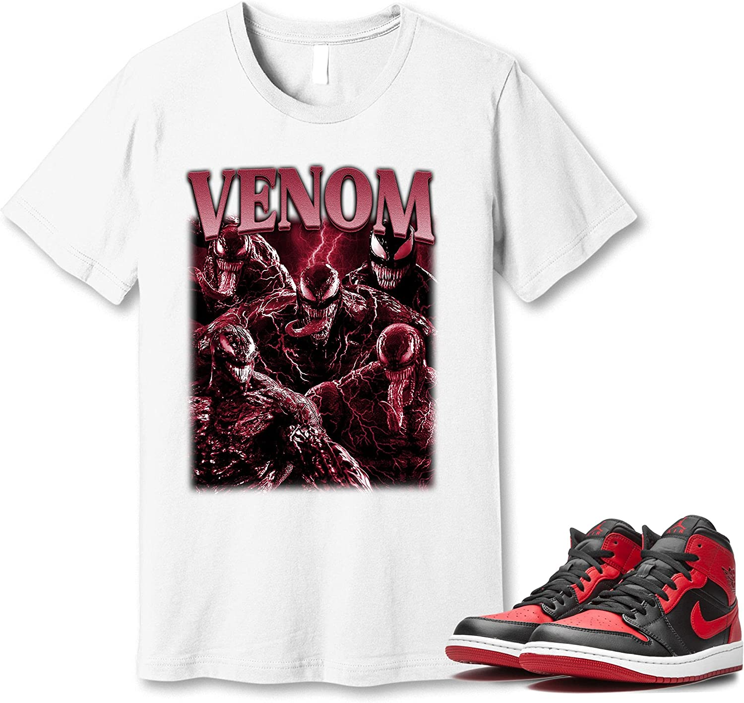 #Venom Japan Maker New T-Shirt to Match Jordan 1 Sneaker Snkrs Got Em Top Free shipping anywhere in the nation Banned