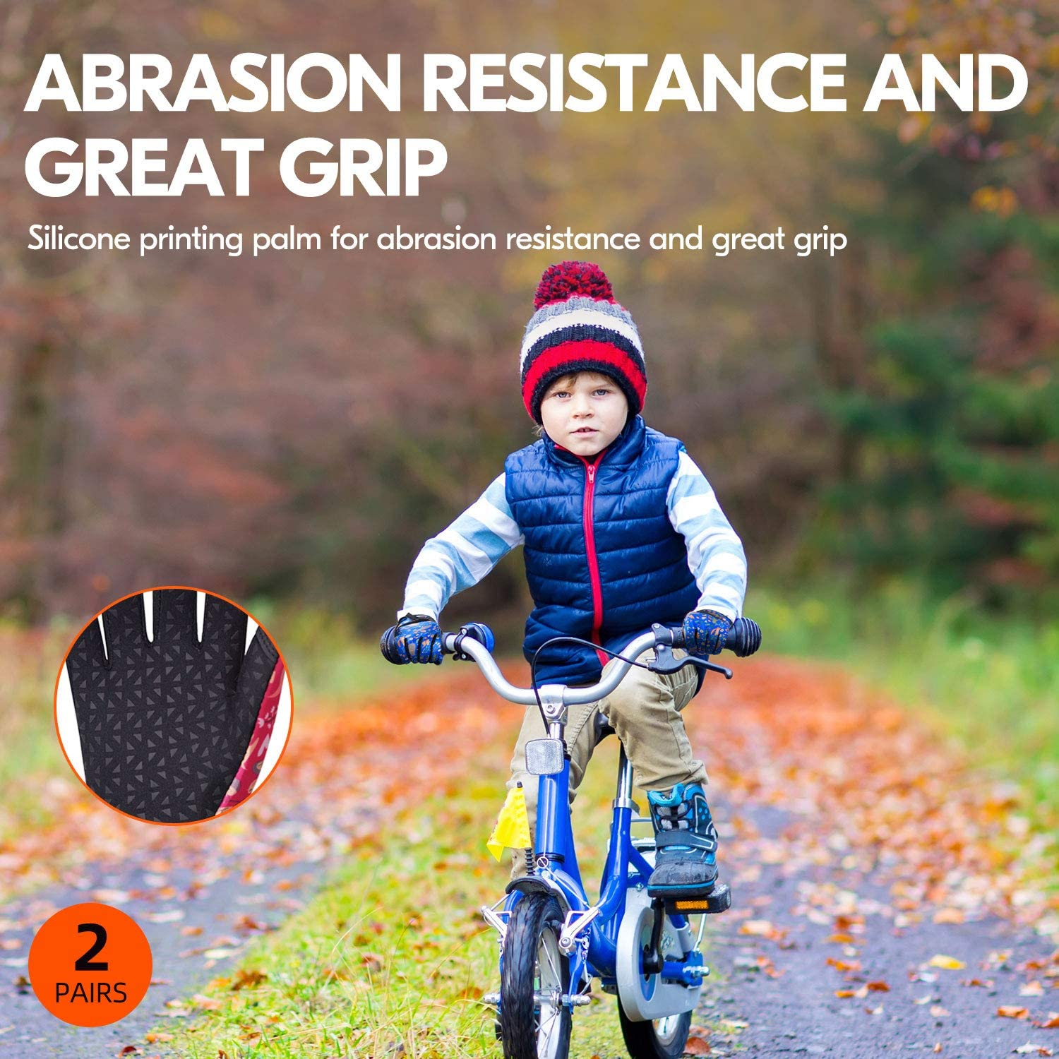 2Pairs Kids 32℉ or Above 3M Thinsulate C40 Lined Winter Outdoor Gloves Designed for Running 2Colors,SL221FW Cycling Vgo.. Driving /& Texting