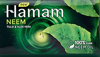 Hamam Neem Tulsi and Aloevera Soap Bar, 150g (Pack of 3, Save Rs. 10/-)