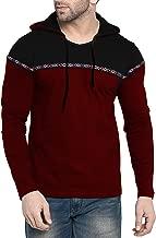 Fenoix Men's Cotton T-Shirt Hooded Indigo Blue