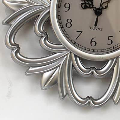 TIED RIBBONS Decorative Latest Plastic Wall Clock with Mirrors (Silver, 25 cm x 25 cm) for Living Room Bedroom Entrance Stairs Dining Room Home Décorations