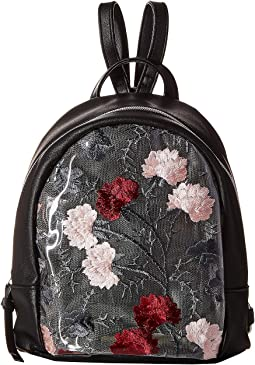 Clear Backpack with Flowers