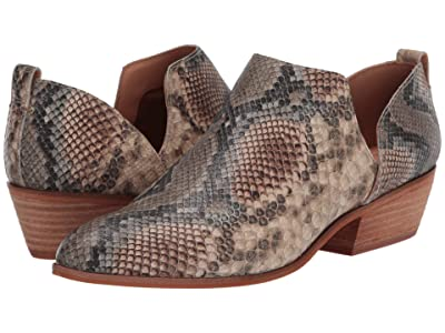 FRYE AND CO. Rubie Slip-On Bootie (Taupe Snake Embossed Leather) Women
