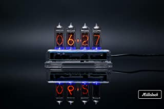 Clocks Home & Garden Charitable Nixie Tube Watch V1.0 Steampunk Black Anodized Aluminium Case With Usb Charger Beautiful In Colour