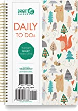 to Do List Daily Task Checklist Planner Time Management Notebook by Bright Day Non Dated Flex Cover Spiral Organizer 8.25 x 6.25 (Critters)