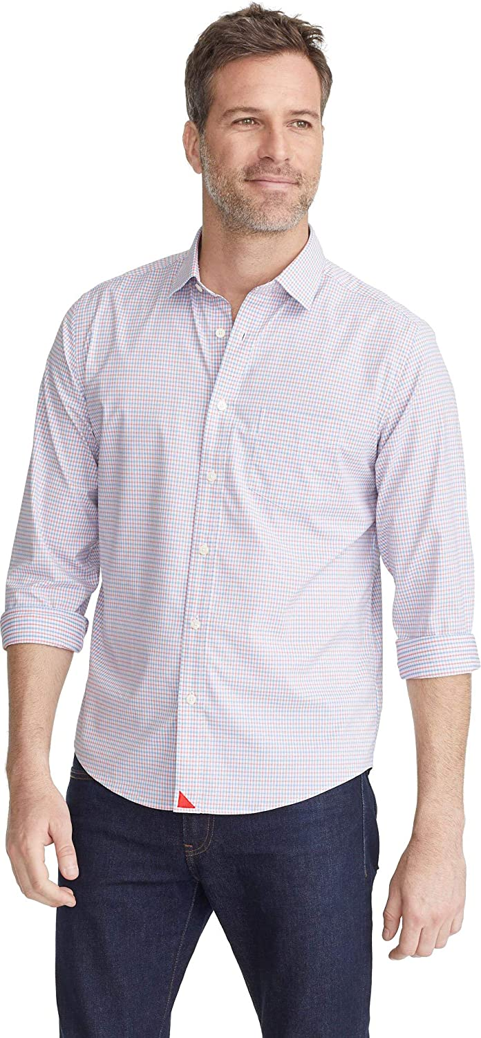 UNTUCKit Russell Untucked Shirt for Men - Long Red Bombing free shipping 5% OFF Sleeve Bl