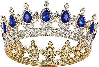 Tiara with blue crystals Tiara with blue rhinestones Baroque tiara Tiara for hair Dolce Gabbana style headband Baroque bezel Tiara  Crown