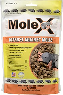 RatX EcoClear Products 620204, MoleX All-Natural Non-Toxic Humane Mole Killer Pellets, 8 oz. Bag