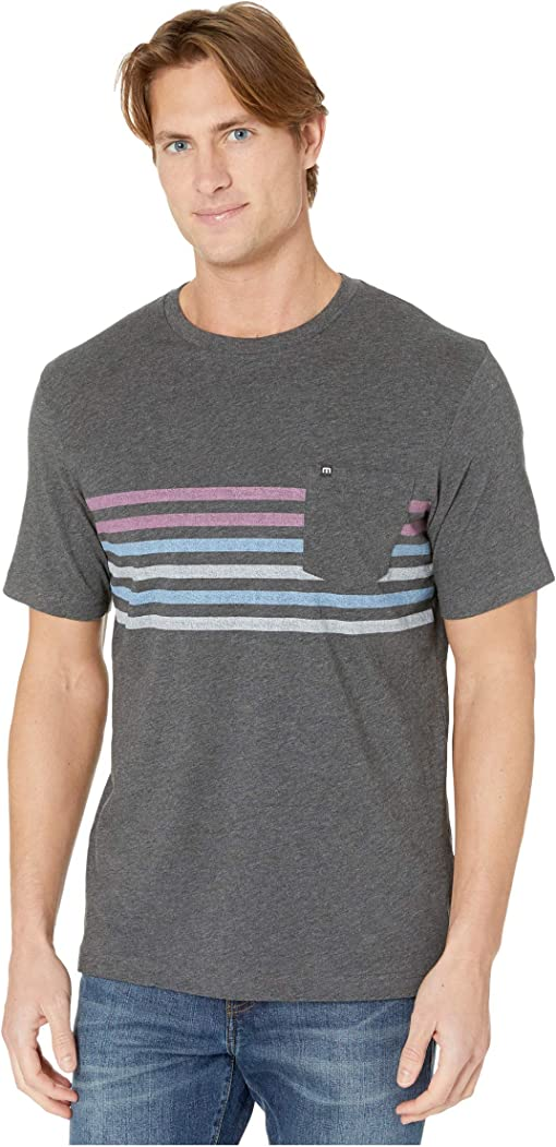 Heather Grey Pinstripe