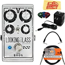 DigiTech DOD Looking Glass Overdrive Pedal Bundle with Power Supply, Instrument Cable, Patch Cable, Picks, and Austin Baza...