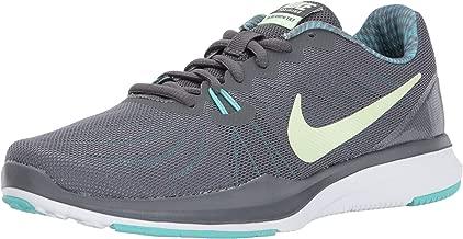 Nike Women's in-Season Trainer 7 Cross, Dark Grey/Barely Volt - Aurora Green, 11.0 Regular US